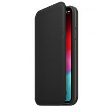 Кейс iPhone X Leather Folio, Black