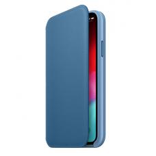 Кейс iPhone X Leather Folio, Light blue