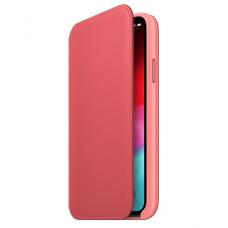 Кейс iPhone X Leather Folio, Orange