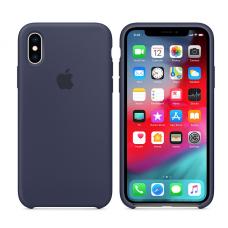 Кейс iPhone X Original Silicon Case Темно-сииний