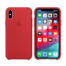 Кейс iPhone X Original Silicon Case Красный