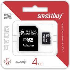 Флеш-накопитель MicroSD 4Гб SmartBuy Class 10 (Без адаптера)