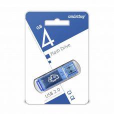 Флеш-накопитель USB 4Гб SmartBuy Glossy, USB 2.0, синий