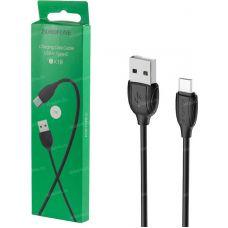 USB кабель Type-C Borofone BX19, черный, 1 м