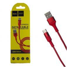 USB кабель Type-C Hoco X26 Красный, 1 метр