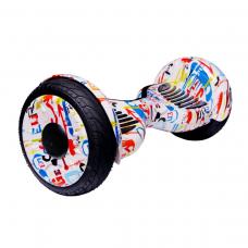 "Гироскутер Smart Balance Wheel 10,5"" Граффити белый с самобалансом"