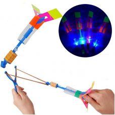 Летающая свеча вертушка LED