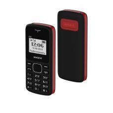 Мобильный телефон Maxvi C23, Черный+красный (без ЗУ)