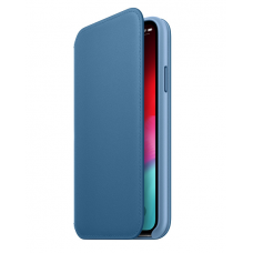 Кейс iPhone X Leather Folio, Light blue