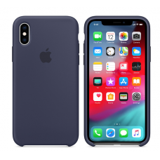 Кейс iPhone X Original Silicon Case Темно-сииний