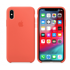 Кейс iPhone X Original Silicon Case Orange
