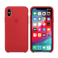 Кейс iPhone X Original Silicon Case Red