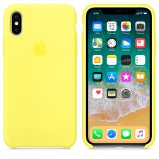 Кейс iPhone X Original Silicon Case Желтый