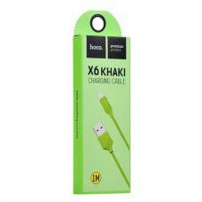 USB кабель iPhone 5 Hoco X6 Зеленый