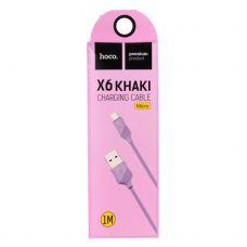 USB кабель micro USB Hoco X6 Фиолетовый