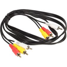 Аудиокабель соединительный VCOM VAV7150 3RCA(M) - 3RCA(M) 1.5 метра