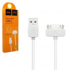 USB кабель iPhone 4 Hoco X1, 1 метр, Черный