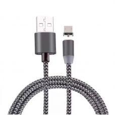 USB кабель Type-C 360 1м, магнитный, Серый