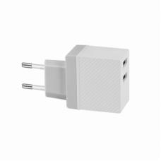 СЗУ USB HOCO C23A (2.4A) 2USB, белый