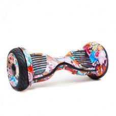 """Гироскутер Smart Balance Wheel 10,5"""" Цветы с черепом с самобалансом"""